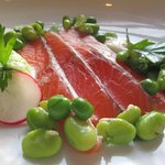 Beautifully presented cured salmon