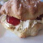 Big scones with plenty of clotted cream and jam