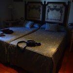 Habitacion doble camas separadas pero comodas