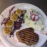 filet mignon with grilled scallops and italian Risotto.. Adrianos Italian restaurant in Gillette