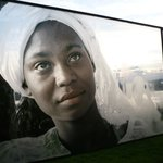 Art in the park: woman from Bahia-Brazil