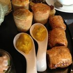 mini pork pies and pastries