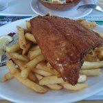 Whitefish and chips (whitefish OK, chips good)