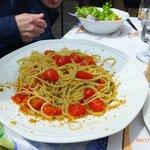 Missoltino and spaghetti