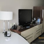 work desk and tv/clothes storage