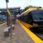 Hiawath Light Rail at Cedar Riverside Station 6 14 2013