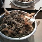 Minced beef poutine