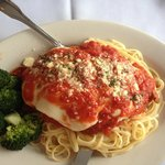 Chicken Parm with linguine