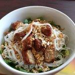 Bun Nem Nuong (grilled pork sausage)