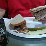 Gigantic brisket sandwich