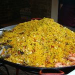 a big pile of paella.