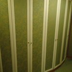 Closets in hotel room