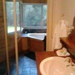 Bathroom to spa room