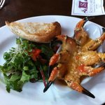 Crab claws served in the bar