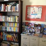 book corner in the dinning room