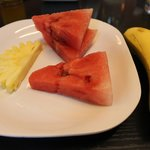 fresh fruits inclusive in the breakfast buffet