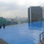 View of pool - KL City skyline in the background