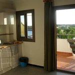 Doors to balcony.