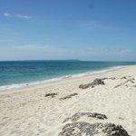 満潮から1時間後のビーチ