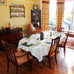 Dinning room where breakfast is served from locally sourced food where possible