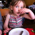 Enjoying the clams at AguaDulce