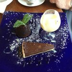 The 'Chocolate Trio' pudding
