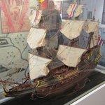 Een replica van een V.O.C.schip