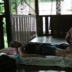 massage service at the varanda, cheap and  privacy.