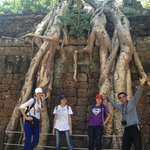 Khemara & us...posing under the big tree!!