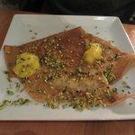 Crêpe crème de citron aux pistaches (menu du soir)