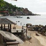 vue sur le Resort depuis le bout de la plage