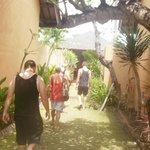 walk way between villas