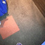 Dirty carpet in lift