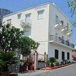 Vista albergo italia sulla spiaggia di Capri