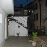Terrace outside room 105