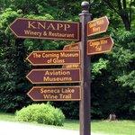 Sign at entrance to Knapp Winery