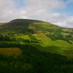 Horse riding in the Brecon Beacons - the view