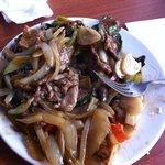 stir fry lamb dish