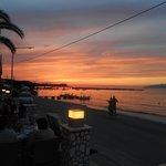 Sunset whilst enjoying Greek evening