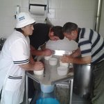 cheese  making by hand