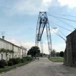 Arrivée au pont transbordeur en venant de Rochefort
