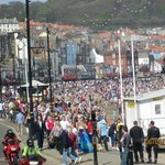 The crowds at Scarborough