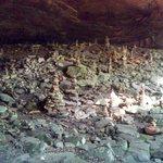 A cave of rock stacks (Inukshuk) on the Honeytree Creek Loop