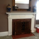 decorative fireplace in the room