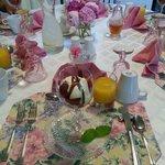 Breakfast. Always color-coordinated!!