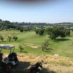 vista sul campo da golf