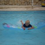 Archie in the play pool