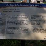 Panneau d'interprétation sur l'histoire du Fort
