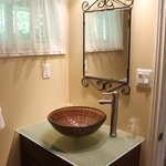 Bathroom (fluctuating water pressure, but clean/tidy/neat)