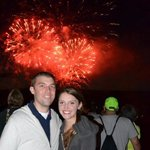 The photo Joel took of us during the fireworks. He runs around to each group and offers to take